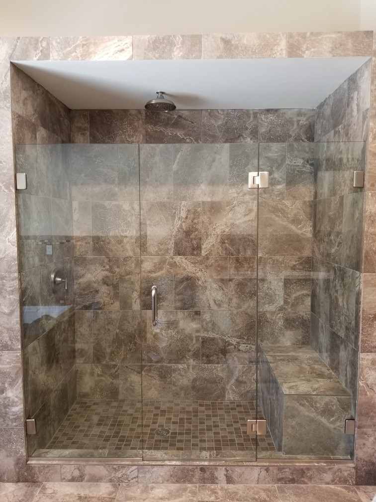 Right Angle Frameless Shower Door